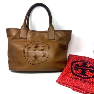 Tory Burch pebbled leather tote (FLAWED) (#23